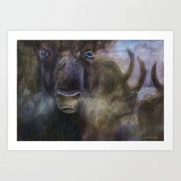 Bull - Original painting Art Print