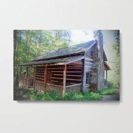 The Hunt Cabin Metal Print