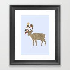 Holiday Reindeer Framed Art Print