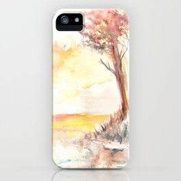 Watercolor Landscape 03 iPhone Case