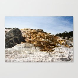 Yellowstone Sulfur Pools Canvas Print