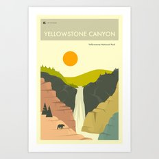 Yellowstone National Park Poster Art Print