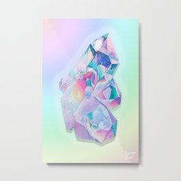 Aura Quartz Metal Print