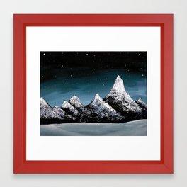 Snowcapped Framed Art Print