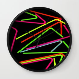 PSYCHEDELIC PLASTIC Wall Clock