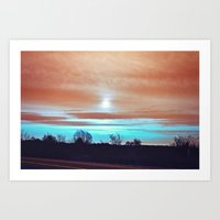 night sky Art Prints featuring Night sky by J's Corner