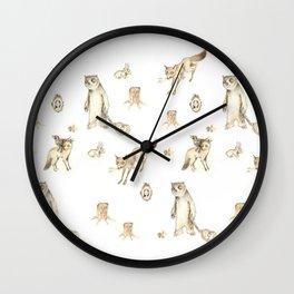Woodland Uprising Wall Clock