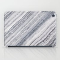 geology iPad Cases featuring Grey Marble by Santo Sagese