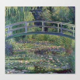 Water Lilies and the Japanese Bridge by Claude Monet Canvas Print