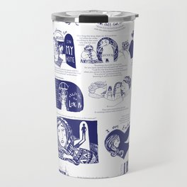 Illustrated poster Travel Mug