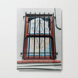 Alley window Metal Print