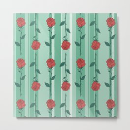 Mary's Garden - Roses Metal Print