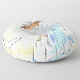Ship on a Spout Floor Pillow