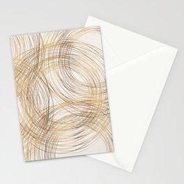 Metallic Circle Pattern Stationery Cards