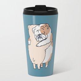 English Bulldog Hugs Travel Mug