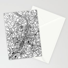 Vintage Map of Paris (1911) Stationery Cards