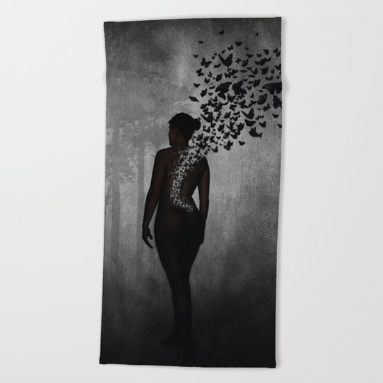 The Butterfly Transformation Beach Towel