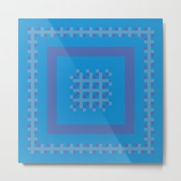 Blue and Purple Boxes Metal Print