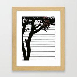 Minimal Tree Framed Art Print