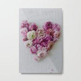 Heart of Ranunculus Metal Print