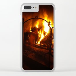 Log Fire Clear iPhone Case