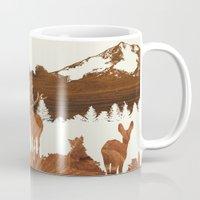 woodland Mugs featuring woodland by jefdesigns