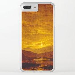 Caspar David Friedrich / Mountainous River Landscape Clear iPhone Case