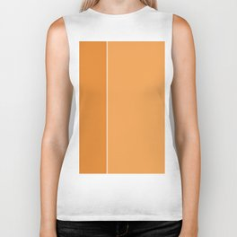 Orange Lines Biker Tank