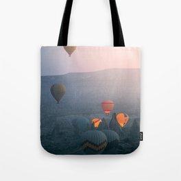 Balloons over Cappadocia Tote Bag