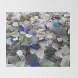Sea Glass Assortment 5 Throw Blanket