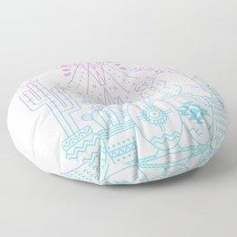 Santa Fe Garden – Rose Quartz & Serenity Floor Pillow