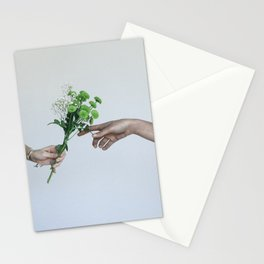flower hands Stationery Cards