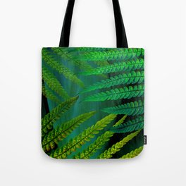 Forest Fern Green Tote Bag