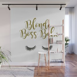 Blonde Boss Babe Wall Mural