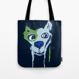 Anton - blue and lime Tote Bag