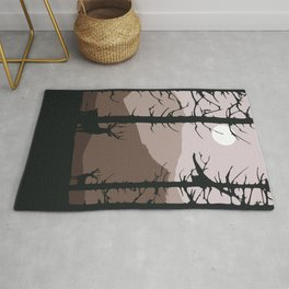 Moonlight into the wood Rug
