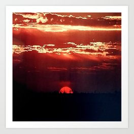Burning Southern Setting Sun Art Print