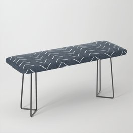 Mud Cloth Big Arrows in Navy Bench