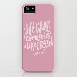 Hosea 6: 3 x Rose iPhone Case