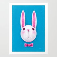 rabbit Art Prints featuring Rabbit by Lime