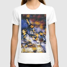 African American Classic Tommie Smith and John Carlos Black Power Olympic Protest Portrait T-shirt