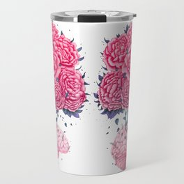 Creative Brains with peonies Travel Mug
