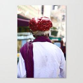 Man in Market, Udaipur, India Canvas Print