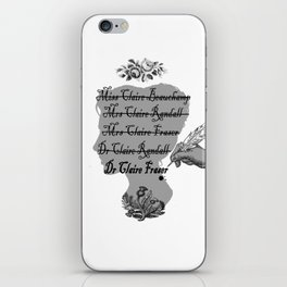 Claire Beauchamp Randall Fraser iPhone Skin