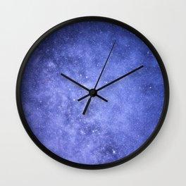 Light Purple Galaxy Wall Clock