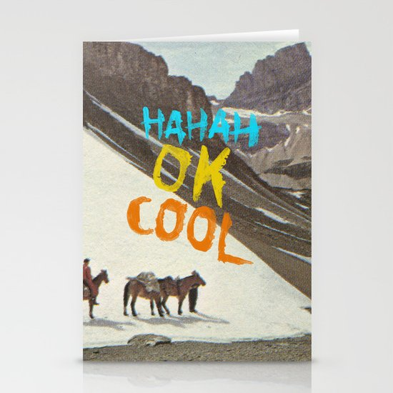 HAHAH OK COOL Stationery Cards