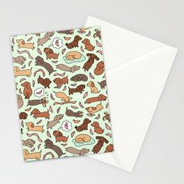 Wiener Dog Wonderland Stationery Cards