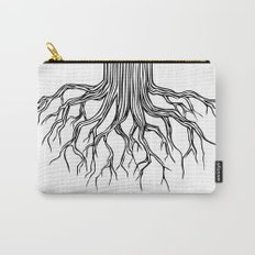 Tree Root Drawing (black on white) Carry-All Pouch