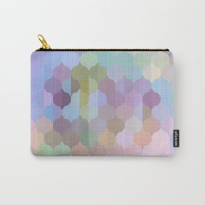 Pastel Geometric Abstract Carry-All Pouch