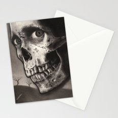 Ash with Skull and Cross - Evil Dead 2 Charcoal and Graphite Drawing Art Stationery Cards